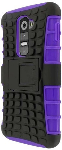 Empire MPERO Impact SR Series Kickstand Case Tasche Hülle for LG G2 - Schwarz/Purple (Not Compatible with (Lg G2 Phone Case)
