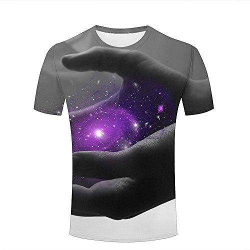 Mens Womens 3d Print T Shirtsholding a galaxy Graphic Fashion Couple Tees Top Short Sleeve B