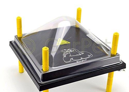 Küken Wärmeplatte Wärmestation Hühner Heizplatte Thermostat Schutzhaube Aufzucht (Wärmeplatte 40x40 + Haube)