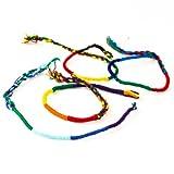 Pulseras redondas, coloridas, tejidas a mano algodón. Brazalete de la amistad de Guatemala.
