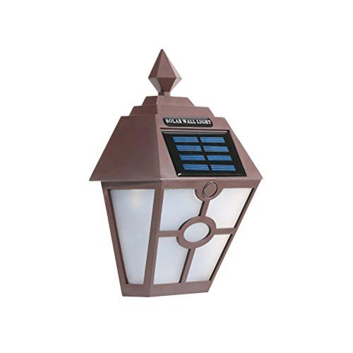 OSALADI Lámpara Solar LED de Pared para Exteriores, Resistente al Agua, Vintage, Hexagonal, para Montar...