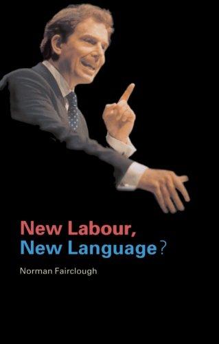 New Labour, New Language? di Norman Fairclough