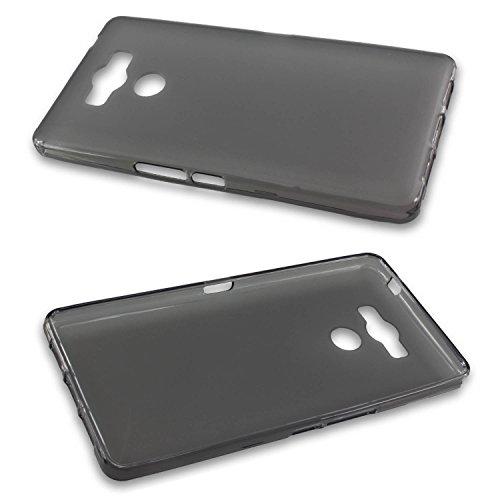caseroxx TPU-Hülle für Elephone P9000, Tasche (TPU-Hülle in schwarz-transparent)