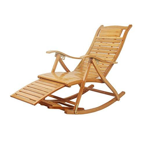 CJC Balancement Chaise Chaises Longues Pliant Bambou Fauteuil Bascule Plate-Forme Relaxant Inclinable Siège (Couleur : A4)