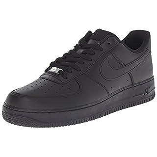 Nike Unisex-Erwachsene Air Force 1 '07 Low-Top, Schwarz Black, 44.5 EU