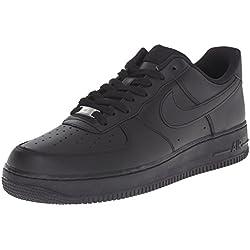 Nike Air Force 1 '07, Zapatillas de Baloncesto para Hombre, Negro, 44.5 EU