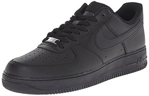 Nike Nike AIR FORCE 1 '07, Herren Sneakers, Schwarz (BLACK/BLACK), 46 EU