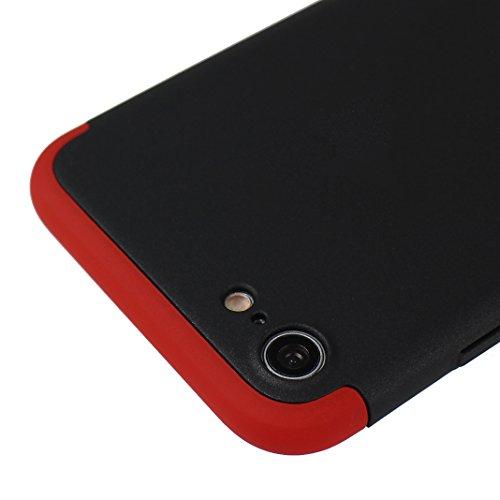 Dur Coque Pour iPhone 7, Asnlove PC Hard Cover Intégrale Protection Housse Couleur Pure Mode Cas Ultra Mince Rigide Étui Antichoc Case Pour iPhone 7 - Rose Or Noir
