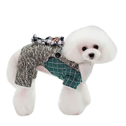 JKRTR Haustierkleidung 2019,Mantel Jacke Heimtierbedarf Kleidung Winterbekleidung Kostüm(Grün,M) (Grüne Schaf Kostüm)