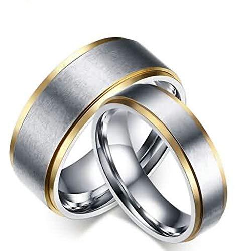 SonMo Ring 925 Breit Damen Paarringe Hochzeit Ring Verlobungsring Matt Poliert Ring Breit Silber Silber 6Mm Hochzeit Ringe Silber für Frauen 60 (19.1)