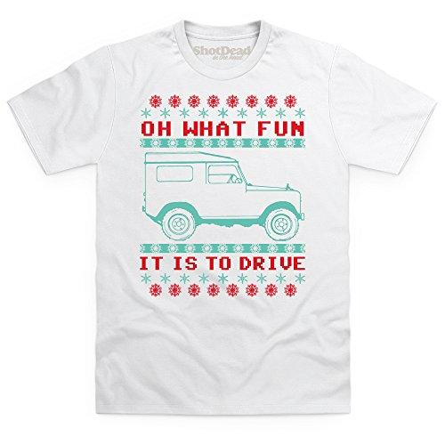 LRO Oh What Fun Xmas T-Shirt, Herren Wei
