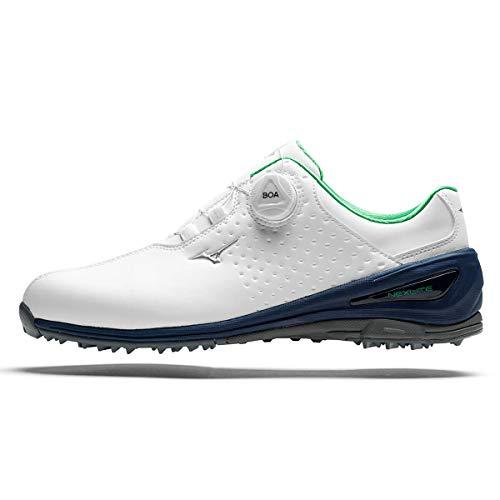 Mizuno Nexlite 006 Boa, Chaussures de Golf Homme, Blanc (Blanco/Azul/Verde 14), 44 EU