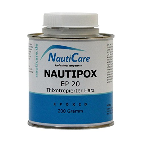 NautiCare NautiPox EP 20 Thixotropes Harz 200 g - Dickflüssigeres, Lösemittelfreies Epoxidharz (Epoxid Harz, Ohne Härter) (Boot-200g)