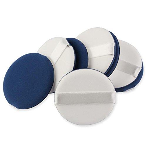 8pcs Puff Cosmétique Eponge Houpette Fondation Fond de Teint Poudre Blending en Latex (Bleu)