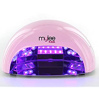 Mylee High Quality LED Lamp 5-Finger 12 Watt Dome Lamp, Cures Gel Polish in Seconds with 15, 30 and 60 Second Timer. Features a Removable Magnetic Tray and Motion Activated Sensor (Pink)