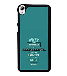 printtech Cool Quotes Success Back Case Cover for HTC Desire 826 Dual
