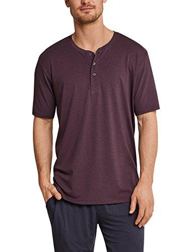 Schiesser Herren Schlafanzugoberteil Shirt Kurzarm mit Knopfleiste, Rot (Rotbraun 531), XX-Large (Herstellergröße: 056)