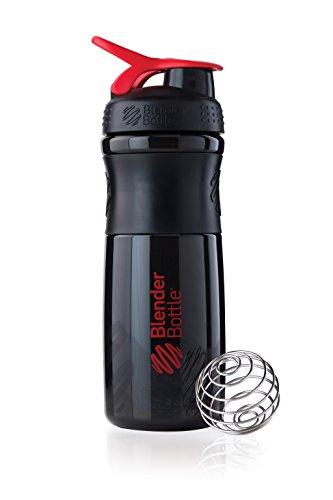 BlenderBottle Sportmixer Tritan Shaker | PRotein Shaker | Wasserflasche | Diät shaker (28oz / 820ml) - Schwarz|Rot (Messbecher Sieb)