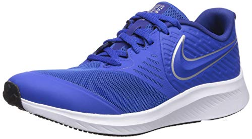 Nike Star Runner 2 (Gs) Scarpe da Atletica Leggera Unisex Adulto, Multicolore (Game Royal/Metallic Silver 400), 40 EU
