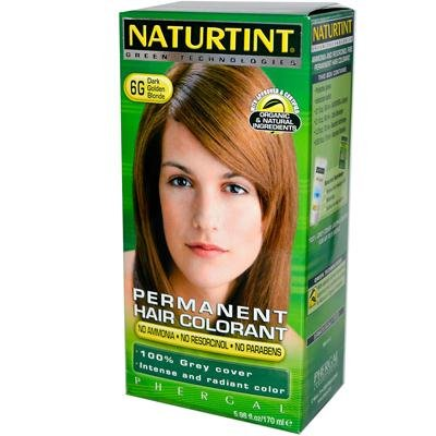 Permanent Hair Colorant, Dark Golden Blonde (6G), 5.6 oz, Naturtint by Naturtint