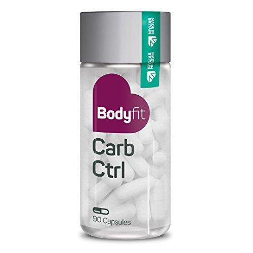 Abnehmen ohne Sport - Bodyfit Carb Ctrl - natürliche Kohlenhydratblocker Kapseln I Nahrungsergänzungsmittel Diät Kapseln Carb Blocker Appetit Control I 90 vegane und vegetarische Kapseln