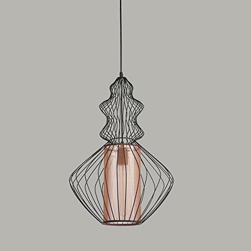 Schmiedeeisen Kronleuchter Retro Industrial Style Crock Birdcage Formen Beleuchtung mit 1 Lichter für Wohnräume, Esszimmer, Restaurants, Geschäfte, Bars -