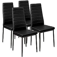 TecTake Lot de Chaise de Salle à Manger 41x45x98,5cm - diverses Couleurs modèles au Choix - (4X Noir | No. 401843)