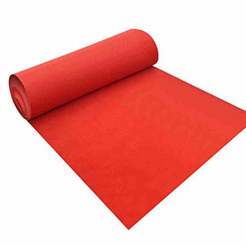 WENZHE Alfombras Y Moqueta Moquetas Esterillas Desechable Rojo Nonwovens Boda Celebracion Espesor 1mm, 4 Anchos, La Longitud Se Puede Modificar Para Requisitos Particulares ( Tamaño : 1.2 m*30 m )
