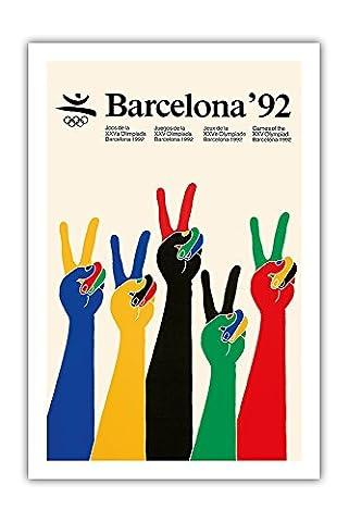 1992 Jeux Olympiques de Barcelone - - Vintage ancienne affiche