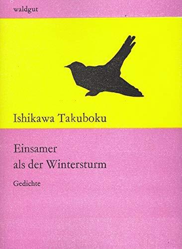 Einsamer als der Wintersturm: Gedichte der Sammlung Trauriges Spielzeug (waldgut lektur (le))