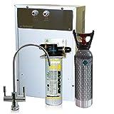 Depuratore Acqua ForHome® Refrigeratore Gasatore Con Everpure Da Sotto Lavello Acqua Gasata Refrigerata Rub.2 Vie 4Kg Co2.