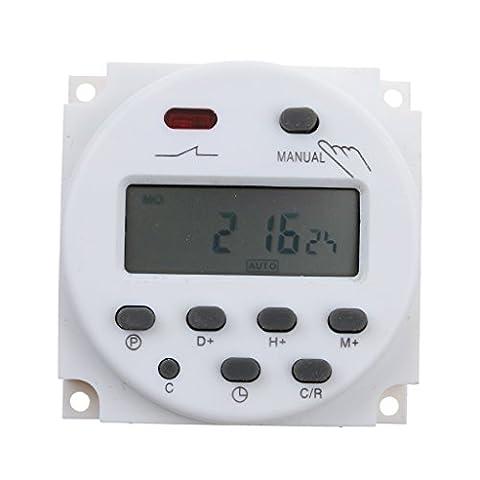 Gazechimp 12V Minuterie Interrupteur Programmable Numérique LCD Econome en Energie pour Lumières et Les Appareils Electroménagers