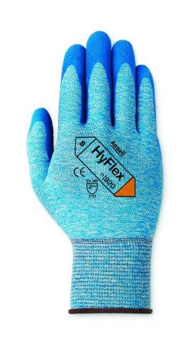 Ansell HyFlex 11-920 Gants oléofuges, protection mécanique, Bleu, Taille 11 (Sachet de 12 paires)