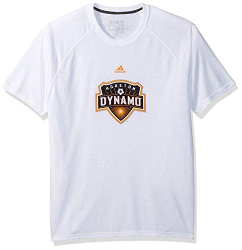 adidas MLS Houston Dynamo Damen Phase Hat Haken Ultimate Short Sleeve V Tee, Large, Weiß