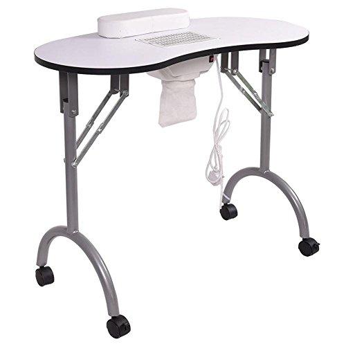 GAIHU Nagel Maniküre Tabelle Tabelle Faltung Tragbare belüftete Nagel Schreibtisch Arbeitsplatz Spa Salon mit Nagel Staubsauger und Tasche (Tabelle Spa)