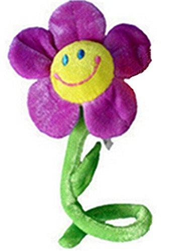 Fengge Jouet de peluche de fleur de tournesol pliable pour le décor de Rideau (pourpre)