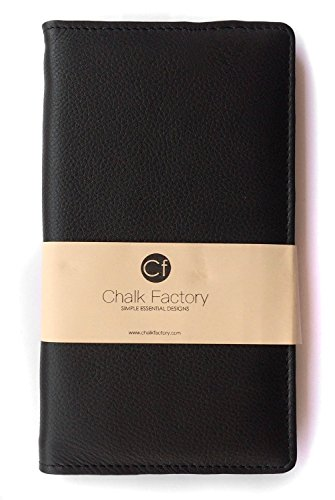 Chalk Factory Black Leather Case / Pouch/ Cover for Apple iPhone 5c (Blue, 8GB) Mobile Phone