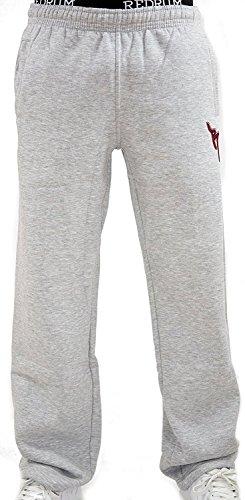 REDRUM Jogginghose Casual Streetwear Modell Bronx (Grau/Bordeaux, Größe M)