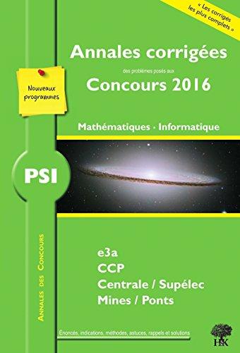 PSI mathmatiques et informatique