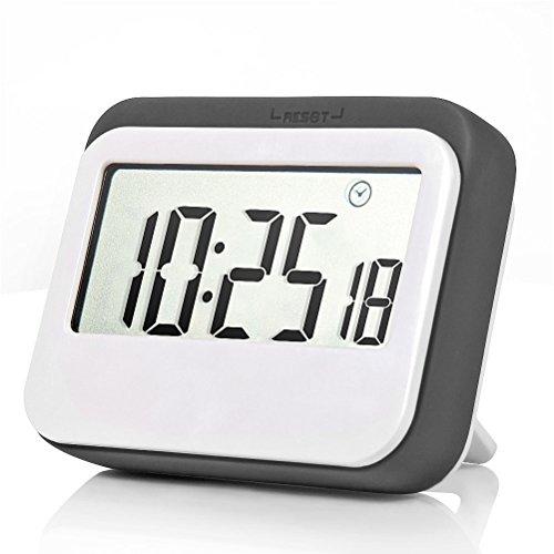 Kleine Küche-kühlschrank (Digital Timer Time Timer für Kinder Küche Timer elektrischen Timer Visual Timer Countdown Timer Dusche Timer Multifunktions großes LCD-Display, Big Ziffern, lauter Alarm, magnetischer Rückseite  Küche Timer gigital grau)