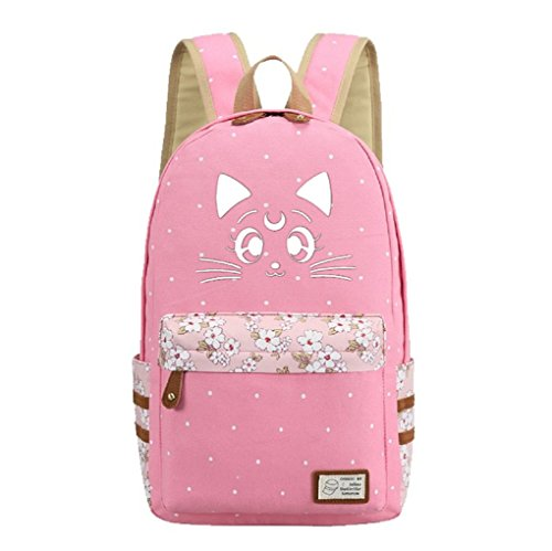 YOYOSHome Luminous Anime Sailor Moon Cosplay College Bag Daypack Bookbag Rucksack Schultasche
