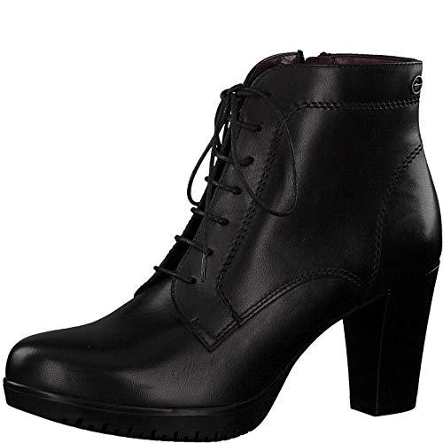 Tamaris Damen Stiefeletten 75129-23, Frauen Schnürstiefelette, Women Woman Freizeit leger Stiefel Chukka Boot halbstiefel Bootie,Black,38 EU / 5 UK