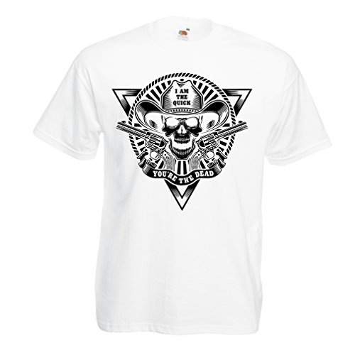 lepni.me T Shirts For Men Skull Shooter - Shooting Presents, Hunting Gifts