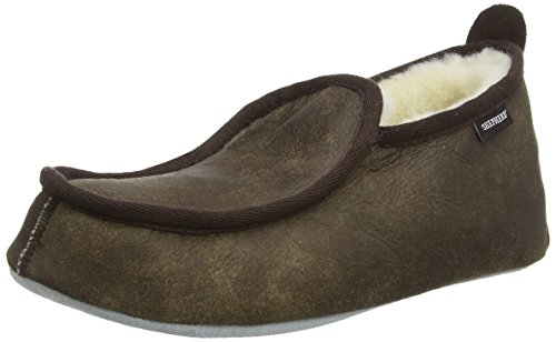 Shepherd Malte, Chaussons montants homme Marron (oiled Antique)