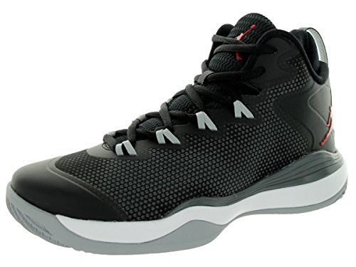 Nike Jordan Super Fly 3 Black Grey Youths Trainers - 684936-003 Black/Gym Red/Drk Grey/Wlf Gry