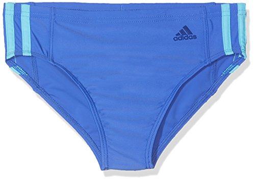 Adidas maglietta fitness 3striscia di costume da bagno, ragazzo, fitness 3-streifen, hi-res blue/bright cyan, 152