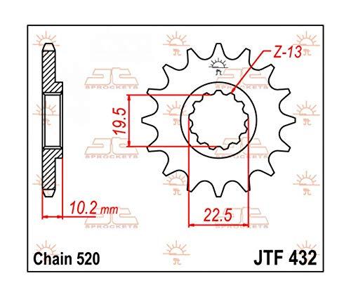 Compatible avec SUZUKI DRZ 400-00/15 / RM 250-89/08 - PIGNON 12 DENTS ACIER- JTF432.12