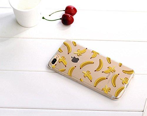 iPhone 7 Plus Custodia (5.5) , Bonice iPhone 7 Plus Cover, Trasparente Morbido Ultra Slim Thin Crystal Clear Cover + 1x Protezione Schermo Screen – Coccinella Model 19