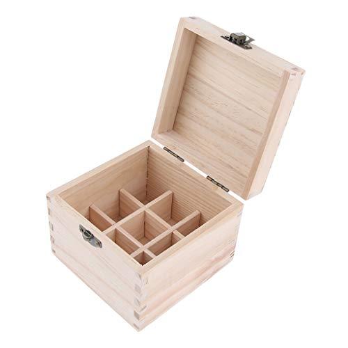 Baoblaze Présentoir à huile essentielle 9 Grilles Cas Boîte de Support D'organisateur