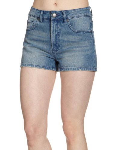 ONLY Damen Jeans Short Hoher Bund, 15064073, Gr. 26, Blau (DENIM.)